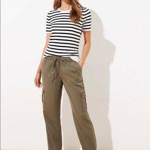 Loft Green Cargo Pants Size 4